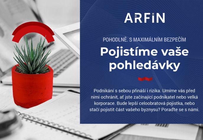 Arfin - Upoutávka na  službu Pojištění pohledávek
