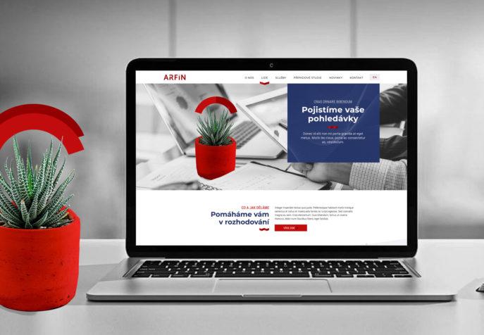 Arfin - online firemní prezentace