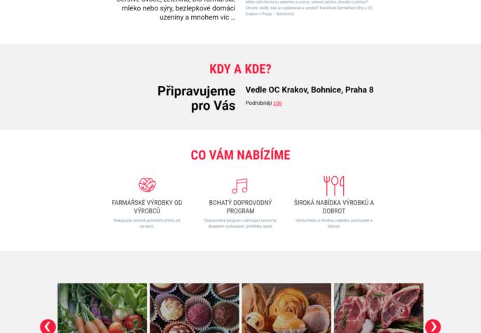 NaTrhy.cz - Trhy Krakov - microsite trhu