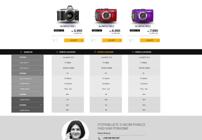 Olympusobchod.cz - Výpis porovnání produktů